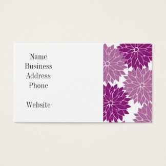 Lila violette Lavendel-Blume blüht mit Blumen Visitenkarten