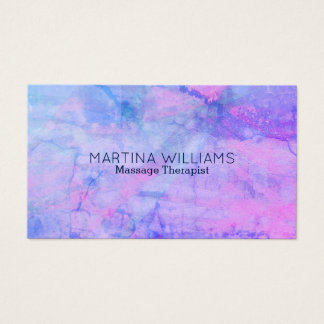 Lila violetter Marmorblick des blauen Steins Visitenkarte