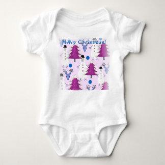 Lila Weihnachtsbaby-Bodysuit Baby Strampler