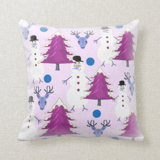 Lila Weihnachtsthrow-Kissen Kissen