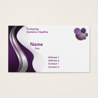 Lila weiße abstrakte Geschäfts-Karten-Schablone Visitenkarten