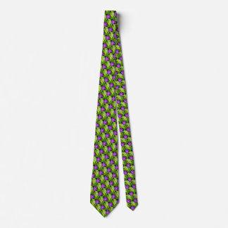 Lila Wildblume-Grün verlässt die Krawatte der