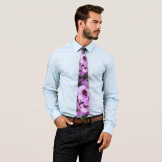 Lila Wildblumen Bedruckte Krawatte