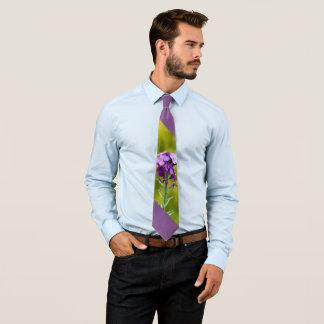 Lila Wildblumen Personalisierte Krawatte