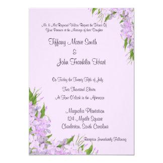 Lila Wisteria-Hochzeits-Einladungen