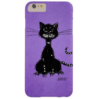 Lila zackige schlechte schwarze Katze Barely There iPhone 6 Plus Hülle