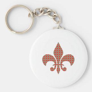 Lilie: ELEGANTE Geschenke ALLE der roten goldenen Standard Runder Schlüsselanhänger