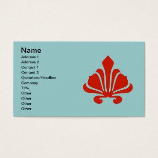 Lilien-extravagantes Rot, addieren Ihren Text Visitenkarte