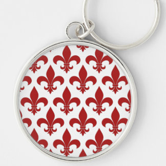 Lilien-französisches Rot Schlüsselanhänger