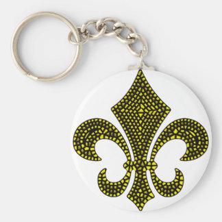 Lilien-Goldschrägfläche Schlüsselanhänger