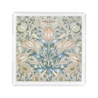 Lilien-und Granatapfel-Vintager Acryl Tablett