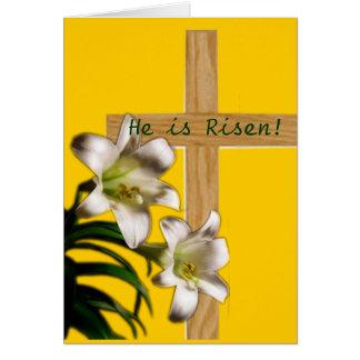 Lilien und Querostern-Postkarte Karte