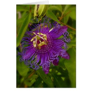 Lilikoi oder Leidenschafts-Blume Karte