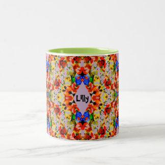 Lilly~ personalisiertes WeihnachtsTasse ~ Zweifarbige Tasse