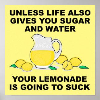 Limonade sind zum Kotzen lustiges Plakat-Zeichen Poster