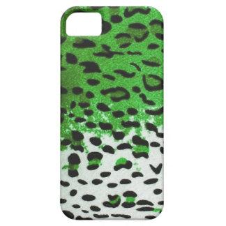 Limone grüne Leopard-Königin-königliche Häute iPhone 5 Hüllen