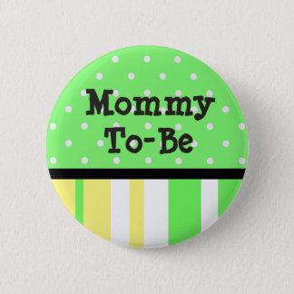 Limone grüne u. gelbe Mama, zum Baby-Duschen-Knopf Runder Button 5,1 Cm