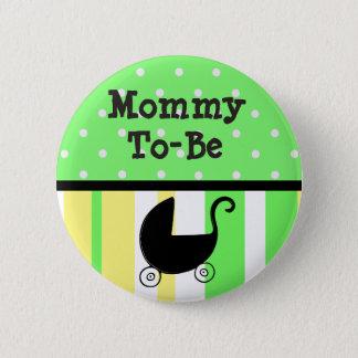 Limone grüne u. gelbe Mama, zum Baby-Duschen-Knopf Runder Button 5,7 Cm