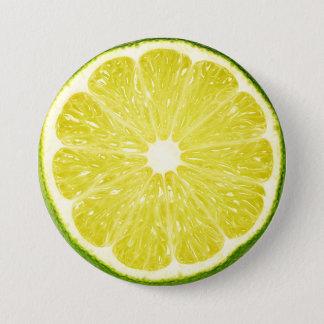 Limone Scheibe Runder Button 7,6 Cm