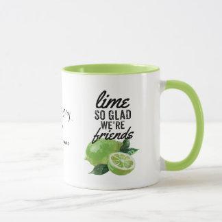 Limone Tasse, bester Freund, FREUNDIN-Tasse, Tasse