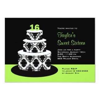 Limoner grüner Bonbon 16 Geburtstags-Party 12,7 X 17,8 Cm Einladungskarte