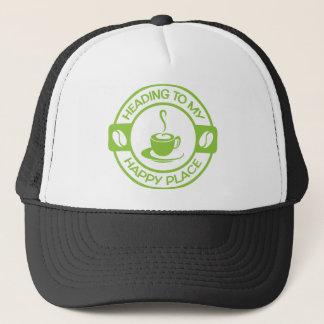 Limones Grün des glücklichen Kaffees des Platzes Truckerkappe