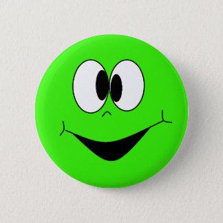 Limones grünes albernes Googlie mustert Runder Button 5,7 Cm