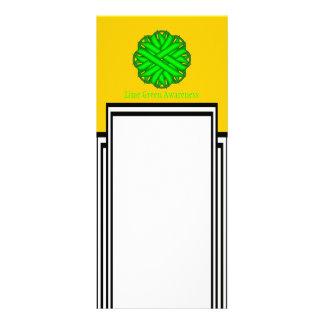 Limones grünes Blumen-Band durch Kenneth Yoncich Werbekarte