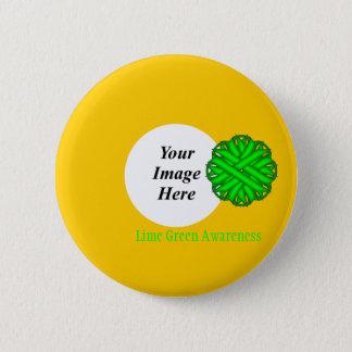 Limones grünes Blumen-Band Tmpl durch Kenneth Runder Button 5,7 Cm