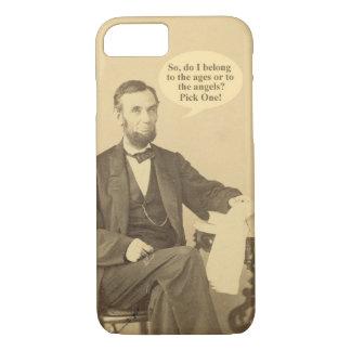 Lincoln-Alter oder Engels-historisches Zitat iPhone 8/7 Hülle