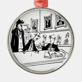 Lincoln-Cartoon 5488 Silbernes Ornament