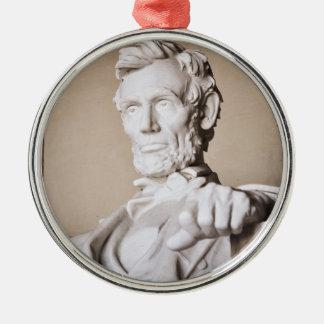 Lincoln Memorial im Washington DC Silbernes Ornament