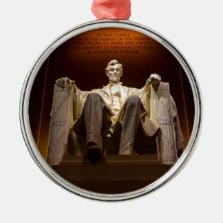 Lincoln Memorial nachts - Washington DC Silbernes Ornament
