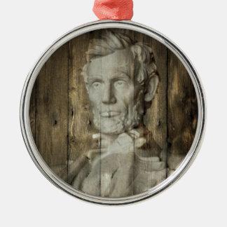 Lincoln Memorial Washington DC Abraham Lincoln Silbernes Ornament