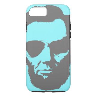 Lincoln mit Flieger-Sonnenbrille - Grau iPhone 8/7 Hülle