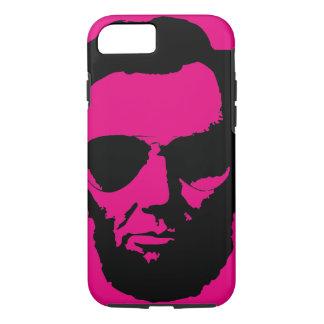 Lincoln mit Flieger-Sonnenbrille - Schwarzes iPhone 8/7 Hülle