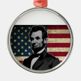 Lincoln Silbernes Ornament