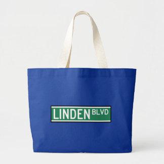 Linden-Boulevard-Zeichen Jumbo Stoffbeutel