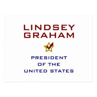 Lindsey Graham für Präsidenten USA Postkarte