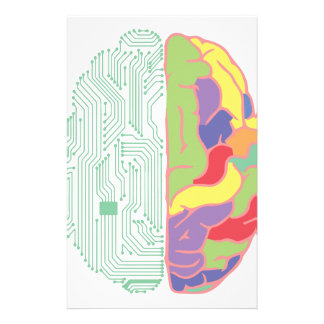 Links u. rechtes Gehirn Individuelle Büropapiere