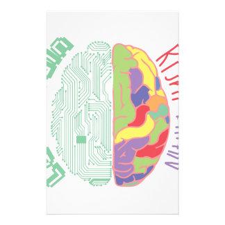 Links u. rechtes Gehirn Personalisiertes Büropapier
