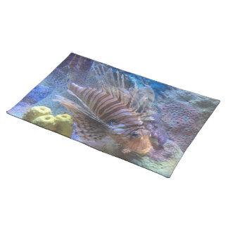 Lionfish Stofftischset