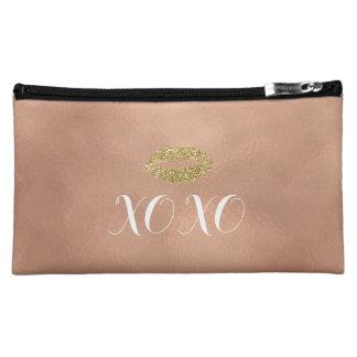 Lippen des Rosen-GoldXOXO Cosmetic Bag