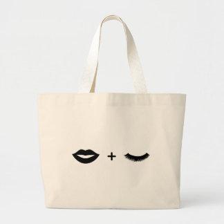 Lippen + Peitschen-Taschen-Grafik Jumbo Stoffbeutel