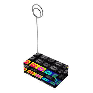 Lippen-POP Kunst-Tabellen-Kartenhalter