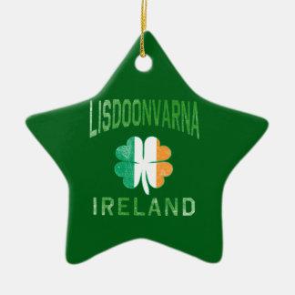 LISDOONVARNA Irland Keramik Stern-Ornament