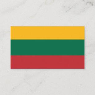 Litauische Flagge, Flagge von Litauen Visitenkarte