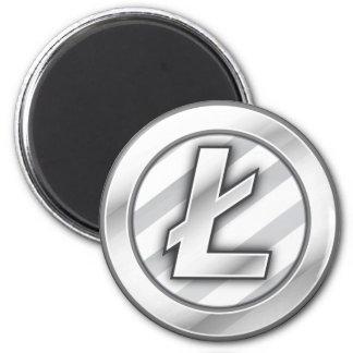 Litecoin Magnet Runder Magnet 5,7 Cm