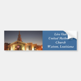 Live Oak-Evangelisch-methodistische Kirche Autoaufkleber
