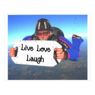 LiveLiebe-Lachen Postkarte